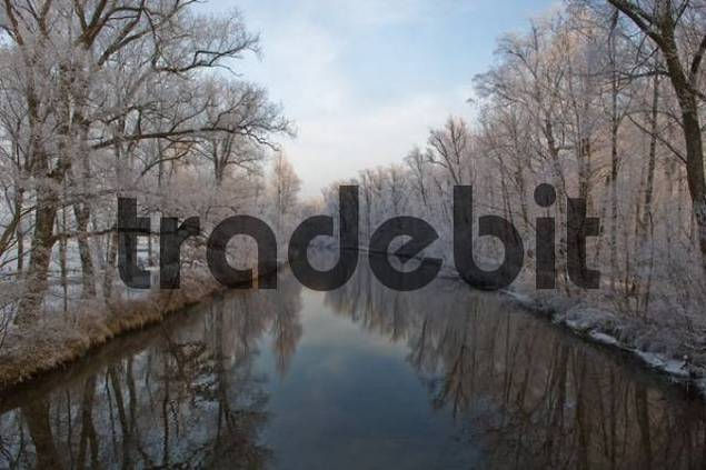 river Prien at Chiemsee, Chiemgau, Upper Bavaria, Bavaria, Germany