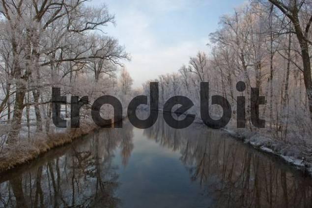 Fluss Prien am Chiemsee, Chiemgau, Oberbayern, Bayern, Deutschland