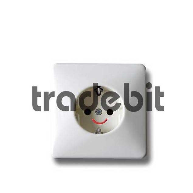 Socket with smiley-face: symbol for low electricity costs