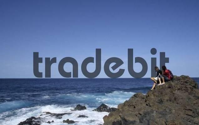 Coast near La Fajana, La Palma, Canary Islands, Spain, Europe
