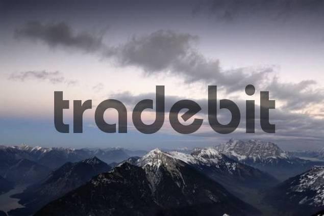Ammergauer Alpen Ammergau Alps in last evening light, Berwang, Tirol, Austria, Europe