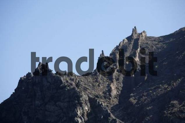 westcoast near Tazo, view from boat, La Gomera, Canary Islands, Spain