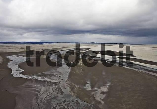 Skeiararsandur glacial outwash plain, southern coast of Iceland, Atlantic Ocean