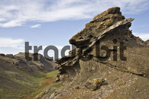 Sporhelludalur hringlei, Nesjavellir, near Reykjavik, Iceland, Atlantic Ocean