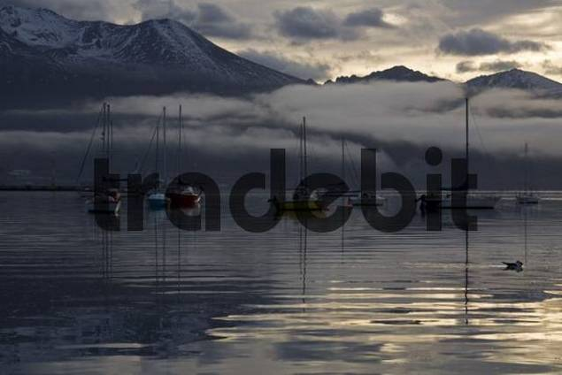 Boots Harbor, Ushuaia, most southerly town of the world, Tierra del Fuego, Argentina, South America
