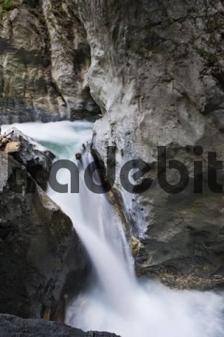 Grossarlerarche Stream flowing through the Liechtensteinklamm Liechtenstein Gorge, St. Johann im Pongau, Salzburg, Austria, Europe