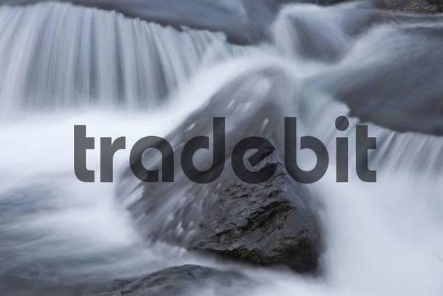 Rock detail in Aurlandselva River, Norway, Scandinavia, Europe
