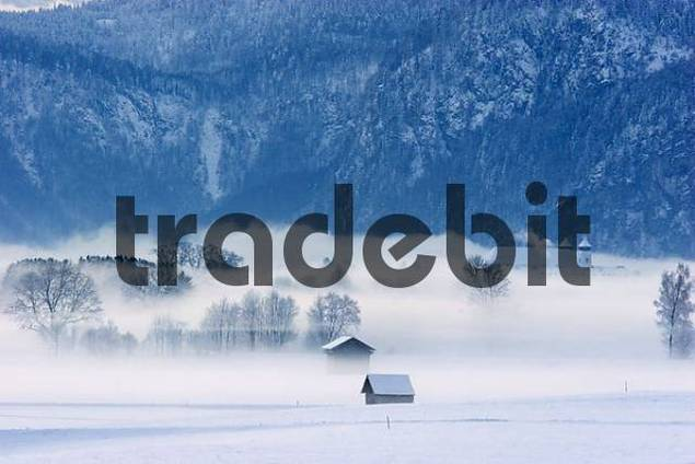 winter morning monastery Schlehdorf Bavaria Germany