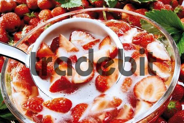 Strawberries, strawberry punch