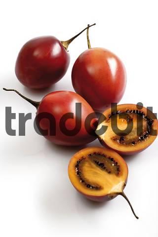 Tamarillos or Tree Tomatoes Solanum betaceum or Cyphomandra betacea
