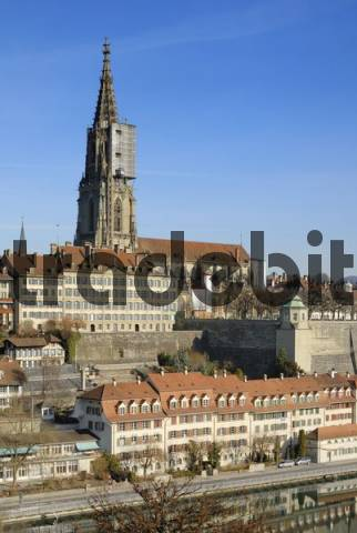 Bern - view of the old town - Switzerland, Europe.