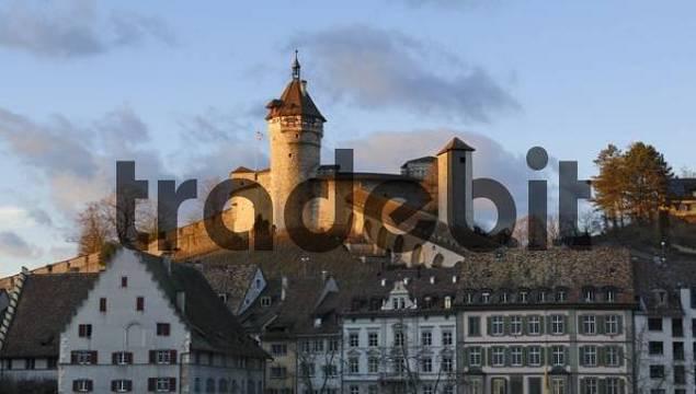 Schaffhausen - the Munot castle in the last sunlight - Switzerland, Europe.