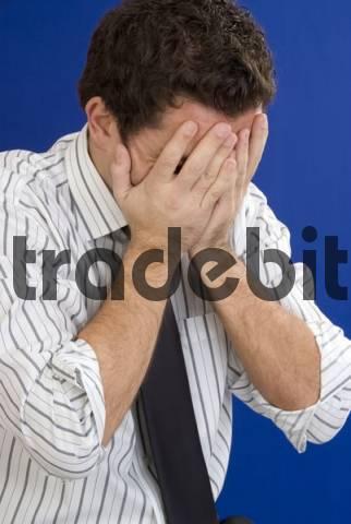 desperated businessman