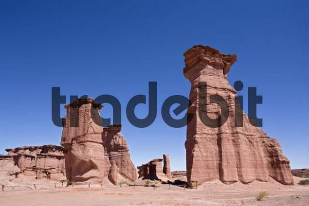 Sandstone rocks in the national park, Parque Nacional Talampaya, Argentina, South America