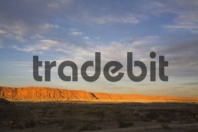 Barrancas Coloradas a red rockface at National Park Parque Provincial Ischigualasto, Central Andes, Argentina, South America