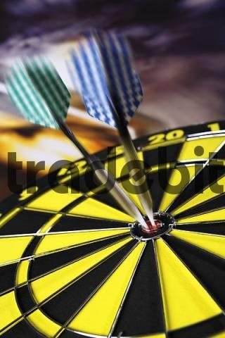 Darts in a bullseye