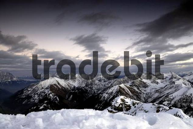 Allgaeu Alps in wintertime, Berwang, Tirol, Austria, Europe