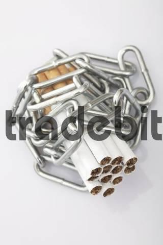 Chain tied around cigarettes