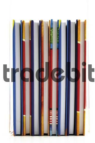 Several books, multicoloured book jackets