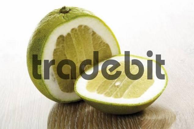Sliced pomelo Citrus maxima