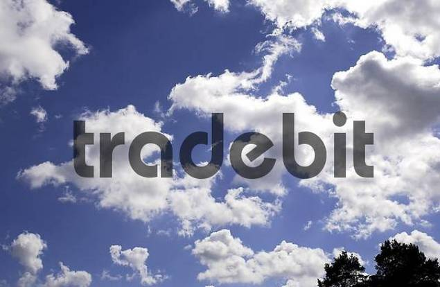 Cloud formation in blue sky