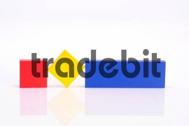 Building blocks, primary colours