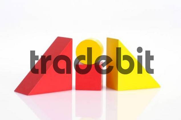 Building blocks, primary colours