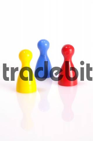 Colourful game pieces
