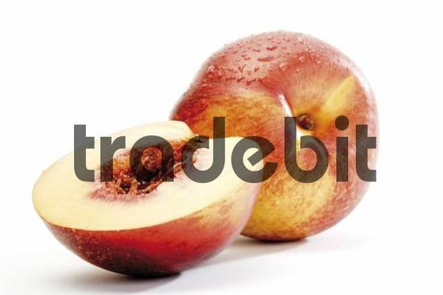 Nectarines, whole and halved