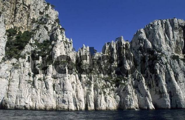 high cliffs at Calanque de lOule, Provence, France