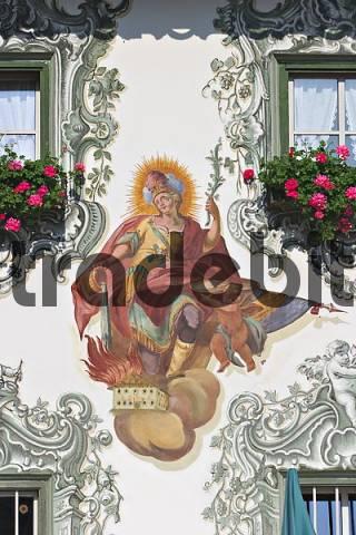 murals at Hotel Waldseerhof in Walchsee - Tyrol - Austria
