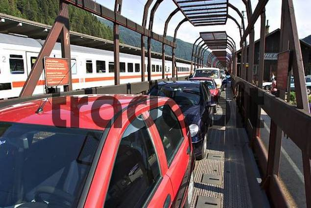 loading of cars - Tauerntunnel between Carinthia and Salzburg - Austria