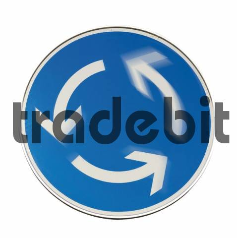 Traffic sign: roundabout