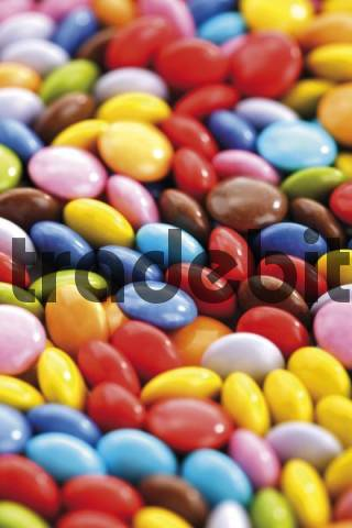 Colourful candy-coated chocolates