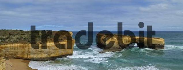 rock arch in the sea in the Port Campbell NP Great Ocean Road Victoria Australia