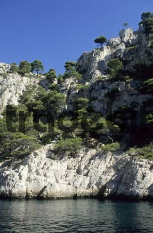 rocky coast at Calanque dEn-Vau, Provence, France