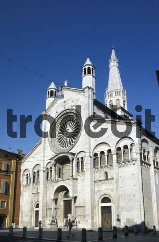 Cathedral, west facade, Modena, Emilia Romagna, Italy, Europe