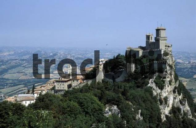San Marino, Guaita first tower of the fortification, San Marino, Italy, Europe