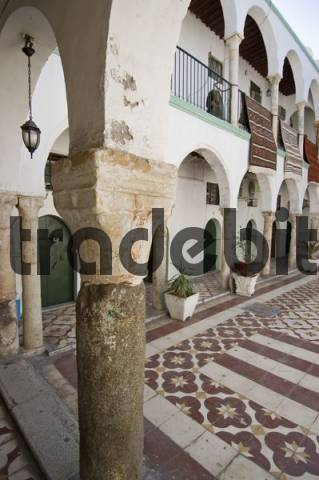 riad, historic city palace in the historic center of Tripolis, Tripoli, Libya