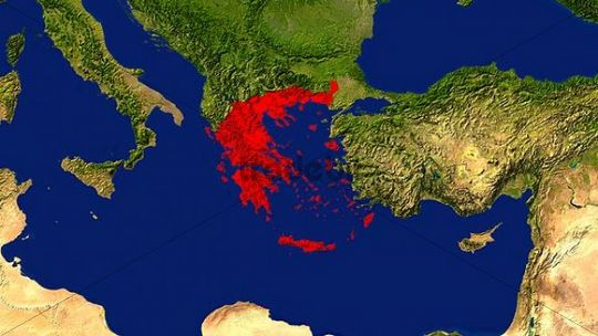 Map greece highlighted red download places map greece highlighted red gumiabroncs Choice Image