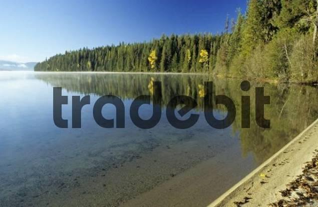 beach at Priest Lake, Idaho, USA