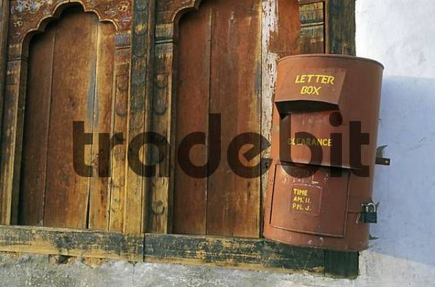 letterbox in the main town thimphu buthan