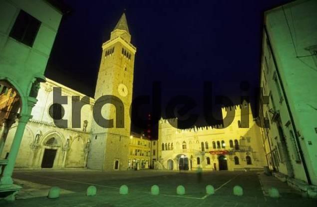 city square of Koper with praetorian palace, Primorska region, Slovenia