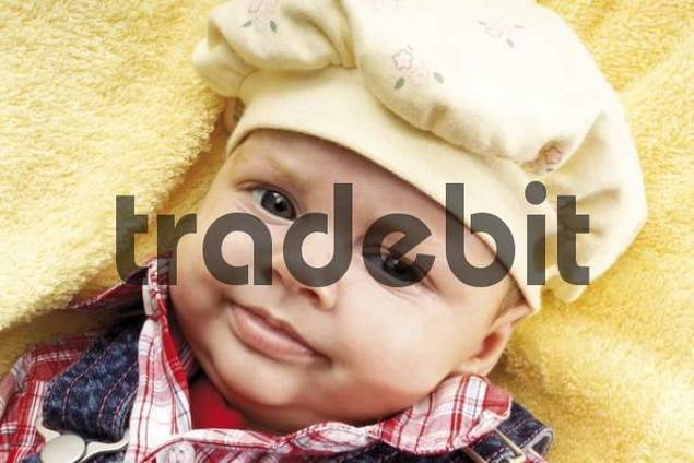 Baby wearing a hat