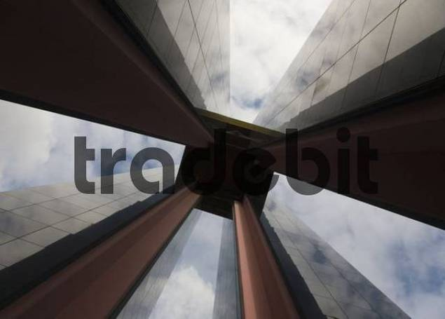 Modern clock tower pillars, Tiergarten, Berlin, Germany, Europe