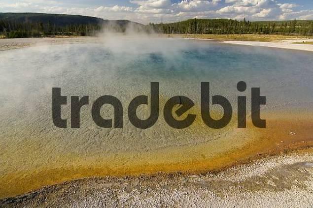 Sunset Lake, Black Sand Basin, Yellowstone National Park, Wyoming, USA