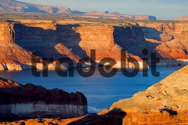 late afternoon at Lake Powell Glen Canyon National Recreation Area Utah USA