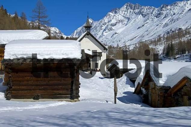 Chapel Kühmatt Blatten Lötschental Valais Switzerland