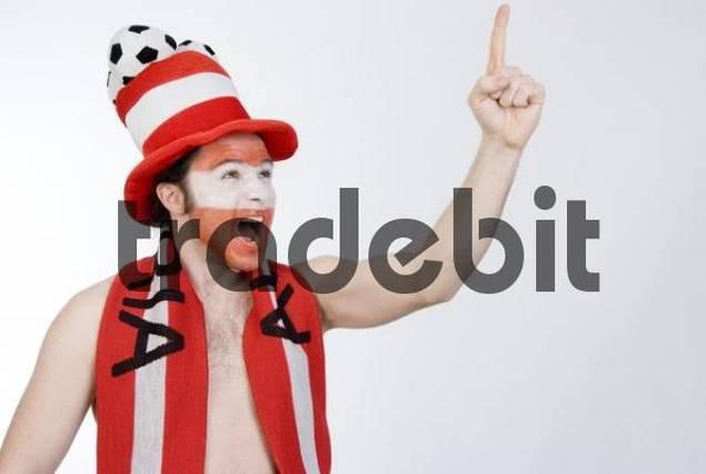 Austrian football fan