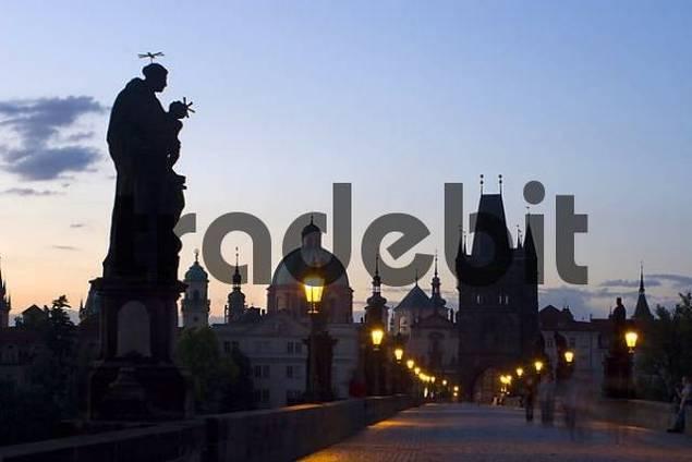 Prague in the morning, Charles Bridge, Prague, Czech Republic